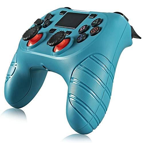 ZZYJYALG Joystick inalámbrico Bluetooth para PS4 GamePads Controller Fit Console para Dualshock 4 Gamepad para la Consola PS4 para PS4, Pro, Slim, Windows 7/8.1/10 (Negro) (Color...