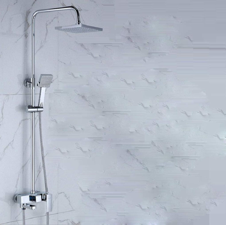 LyMei Shower System, Modern Rainfall Shower Sets for Bathroom-Wall Mounted Rainfall Shower Head Systems-Copper
