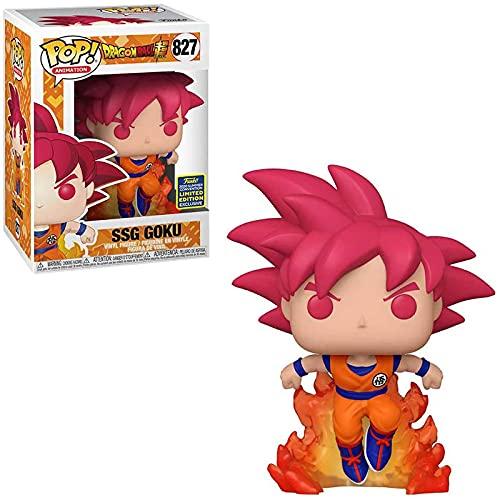 Pop Vinyl Anime Figure Dragon Ball Z # 827 Super Saiyan God Goku (Red Hair) Figura De Acción...