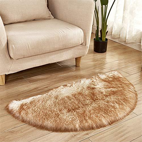 DHHY Halbrund Teppich Plüsch Teppich Home Wohnzimmer Dekoration Schlafzimmer Erker Tür Matte O 60X120 cm