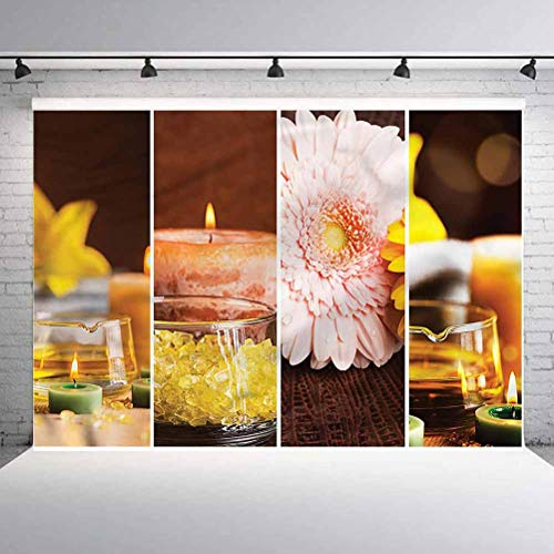 8x8FT Vinyl Photography Backdrop,Exotic,a Candles Spa Photoshoot Props Photo Background Studio Prop