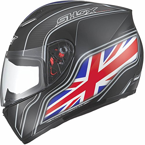 Shox Axxis Identity Motorrad Helm UK matt schwarz schwarz Matt Schwarz 53-54cm | XS