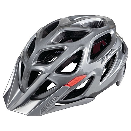 ALPINA MYTHOS 3.0 Fahrradhelm, Unisex– Erwachsene, darksilver-blk-red, 59-64
