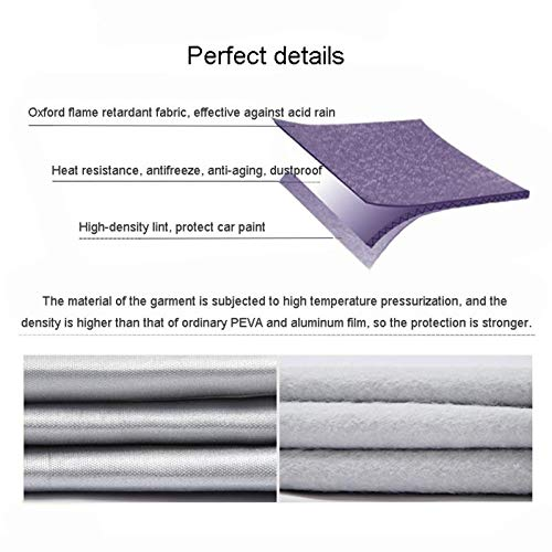 LINGLING Compatible with Renault Triber/Duster Car Thickening Breathable Waterproof Protective Windshield Cover with Automobile Dust and Anti-ice Cover All-Weather Car Clothes Indoor Outdoor