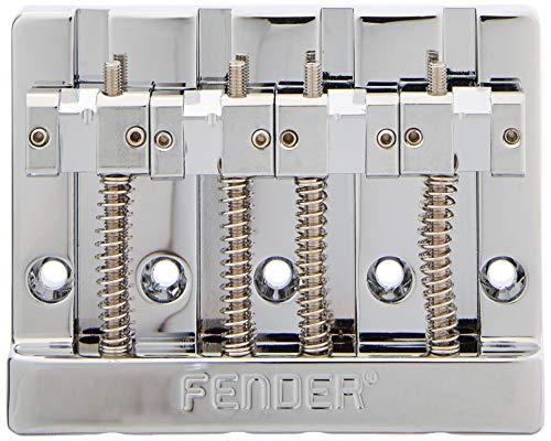 Fender HiMass - Puente de bajo (4 cuerdas, con monturas de latón, cromado)