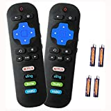Bedycoon Pack of 2 Remote Control Compatible with TCL Roku TV Smart TV RC280 55UP120 55us57 55S401 32S3850 40FS3800 48FS3700 32S3800 48FS4610R with HULU VUDU Key 2017 2018 TCL tv roku,and Batteries
