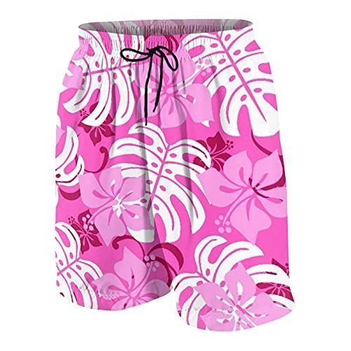 Nongmei Pantalones de Playa para Adolescentes,Hawai,Ropa de Playa Trajes de baño Shorts de Playa S