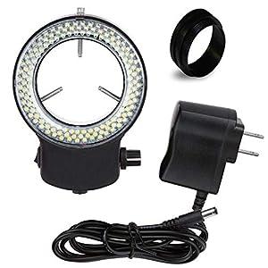 Vision Scientific VMLIFR-09B Black Adjustable 144 LED Ring Light for Stereo Microscope | 2.5″...