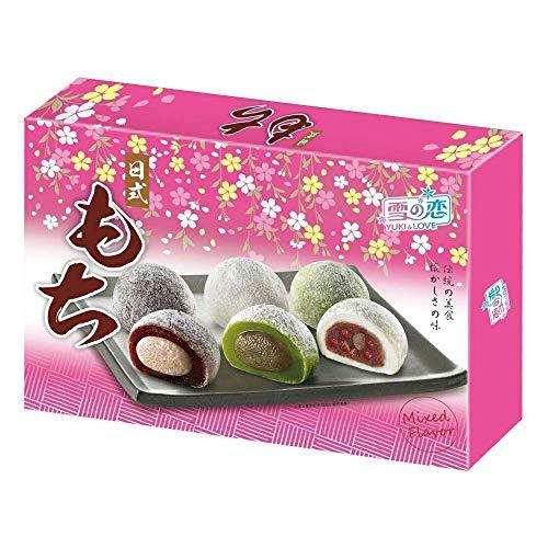 Yuki & Love Estilo Japonés Mochi Del Sabor Mezclado (12 Piezas) 300G