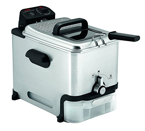 T-fal FR800051 Ultimate EZ Clean Family Size 3.5L Powerful Deep Fryer, Automatic Oil Filter, Perfect Fries, Donuts, breaded Snacks, Silver
