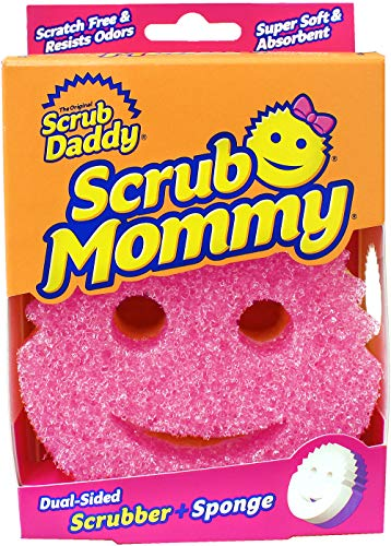Dual Sided Texture Changing Sponge/Scrubber Kitchen Sponge - Super Absorbent Sponge Side - Scrub Mommy by Scrub Daddy (Pink)