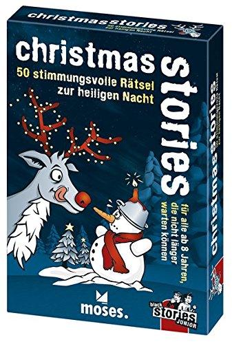 moses. black stories Junior - christmas stories | 50 weihnachtliche Rätsel | Das Kartenspiel für zu Hause
