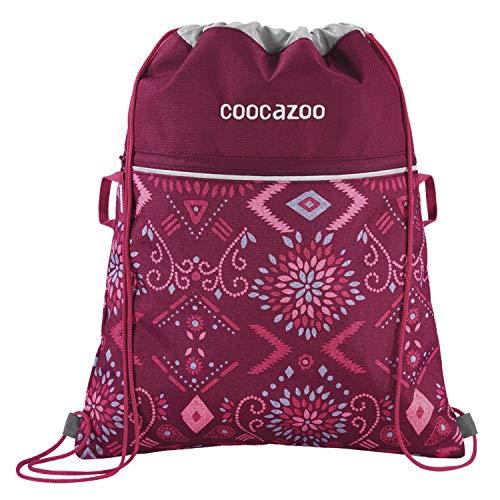 """Coocazoo Sportbeutel RocketPocket """"Tribal Melange"""", pink, mit Reißverschlussfach und Kordelzug, reflektierende Elemente, Schlaufen zur Befestigung am Schulrucksack, für Mädchen, 10 Liter"""