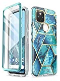 i-Blason Cosmo Series for Google Pixel 5 Case (2020), Slim Full-Body Stylish Protective Case with Built-in Screen Protector (Ocean)