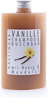 Haslinger Vanille Shampoo & Duschbad mit Honig und Mandelöl, 200ml