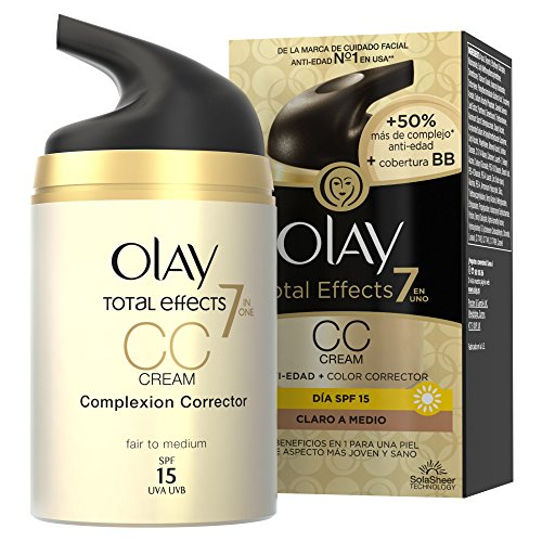 Olay Total Effects 7 en 1 CC Crema Hidratante, Tono: Claro a Medio - 50 ml