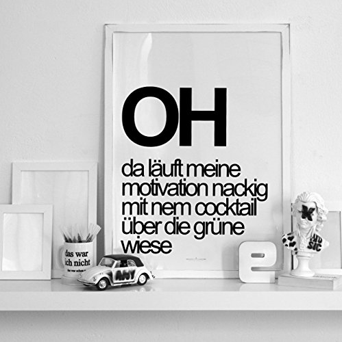 Motivation | Wandposter mit Spruch 70x50 Groß | Typo Design | Druck | Spezialangebot! Nur solange mein Vorrat reicht.