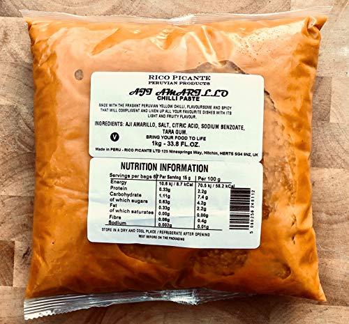 Pasta de chile Aji Amarillo de 1 kg