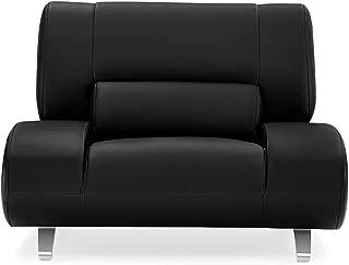 Zuri Furniture Modern Aspen Black Microfiber Leather Chair
