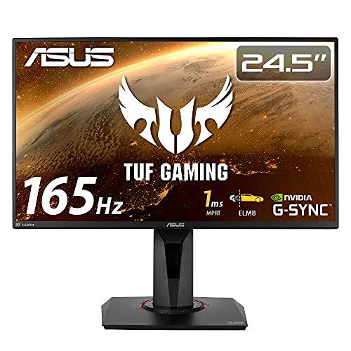 ASUSTek ゲーミングモニター TUF Gaming VG259QR 24.5インチ/フルHD/IPS/165Hz/1ms/PS5対応/G-Sync compatible/DP,HDMIx2/3年保証