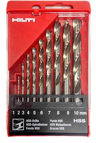 Hilti HSS Spiralbohrer Set 1-10 mm Bohrer Metallbohrer