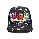 ZzBbHh Among Us Niños Gorra de Beisbol, Cool Moda Sombrero de Sol Al Aire Libre, Ajustable Unisex Sombrero Deportivo Cap Casual para Niños 2 a 8 Años