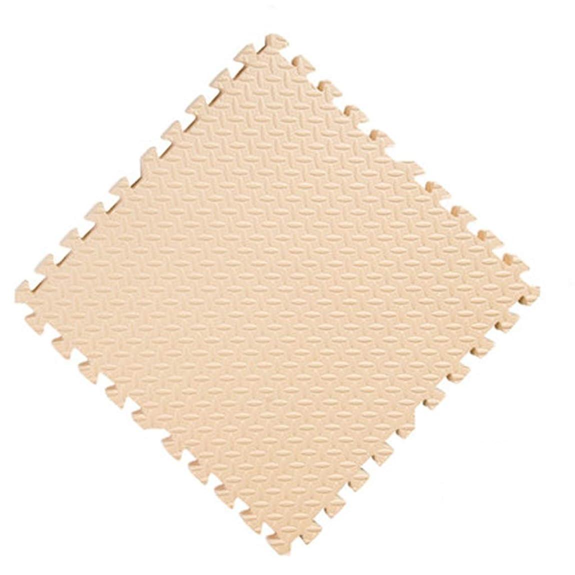 シロクマレースめまいRBZCCP 肥厚クロールマット環境に優しい無味泡フロアマットリビングルームホーム (Color : Beige, Size : L)