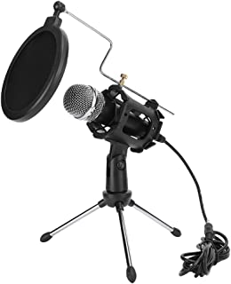 ABS + Metal Recording Microphone, Microphone Set, Plug and Play Professional Online Chats for Radio