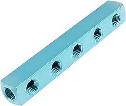 Persluchtslang, 0,64 cm PT schroefdraad, 8 aansluitingen, 5 wegen, snelkoppeling, blauw