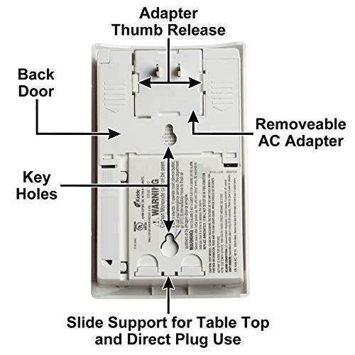 Kidde Nighthawk Plug-In AC/DC Carbon Monoxide Alarm Detector with Digital Display KN-COPP-3 , White - 900-0076-01