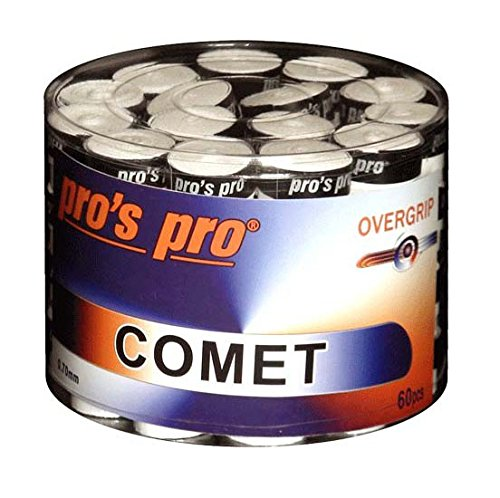 Pro\'s Pro Comet Overgrip Tennis-, Badminton-, Squashschläger, 60 Stück, Weiß