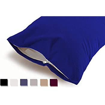 "Uppercut 100% Water Proof Terry Cotton Pillow Protector - Set of 2, Cobalt Blue (18"" x28"")"