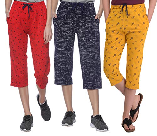 SHAUN Women's Slim Fit Capri Pant ( Multicolored _ X-Large...