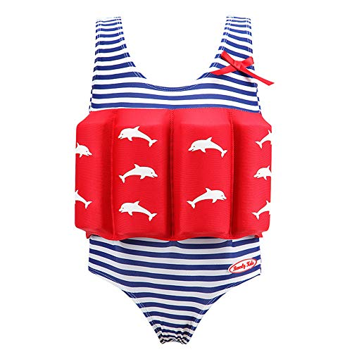 Niños Flotante Bañadores Traje de Baño - Bebé Flotador Nadar Entrenador de Una Pieza Chaleco de Natación para Niñas,flotabilidad Ajustable (baño)