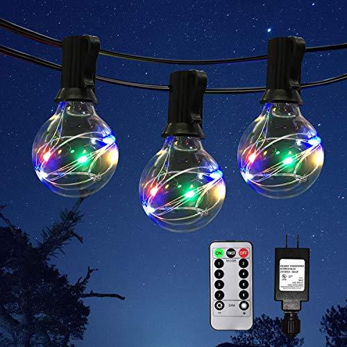 IELECMG Patio String Lights Outdoor - 32.8FT G40 Globe Led String...