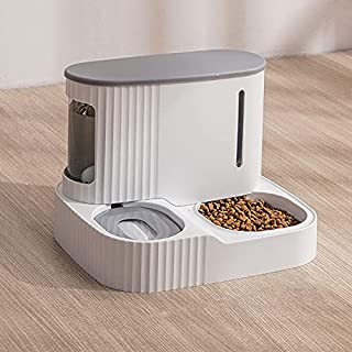 2-in-1 Automatic Pet Feeder for Cats and Dogs Durable & Detachable Water Dispenser Pet Bowls Set Natural Gravity Feeding S...
