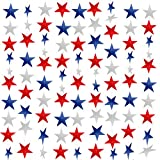 10 Pack Red White And Blue Decorations - 65Ft/180 Red Blue White/Silver Star Garland Streamers Banner Fourth July Patriotic Decorations for July 4th Memorial Day Independence Day Party Supplies
