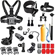 GREHOME Basic Outdoor Sports Accessories Kit for AKASO EK7000 GoPro Hero 5 GoPro Hero Black Silver GoPro Session 5 SJ Cam YI 4K Action Camera
