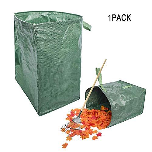MILECN Bolsa de Basura para jardín de Hojas de césped, Bolsa Grande de contenedor de Limpieza, Basura de jardinería Bolsas de Almacenamiento de Basura Reutilizables para Recoger Hojas,1Pack