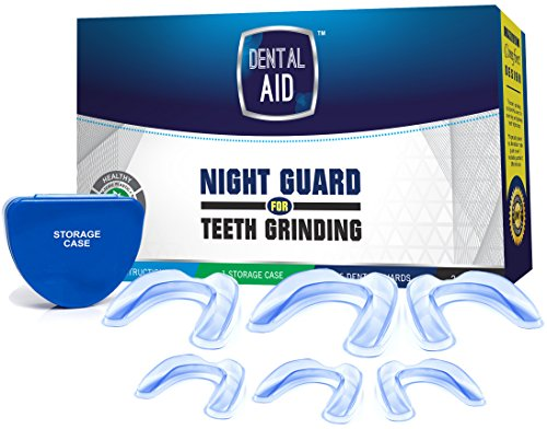 Anti Teeth Grinding Custom Moldable Dental Night Guard, Stops Bruxism,Tmj & Eliminates Teeth Clenching. Pack of 6 Guards in 2 Sizes for Custom Fit-BPA Free.