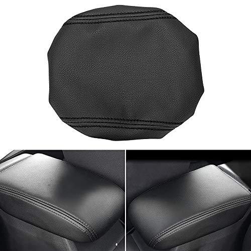 MLING Auto Mittelkonsole Armlehnen Abdeckung Schutz Kompatibel für Golf 7 mk7 2013-2018 (Schwarz)