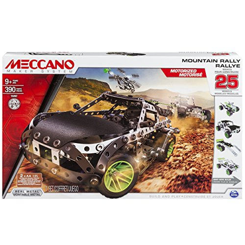 Erector by Meccano, Motorized Mountain Rally Vehicle, 25 Model Building Set, 407 Pieces, for Ages 9+, STEM Construction Education Toy