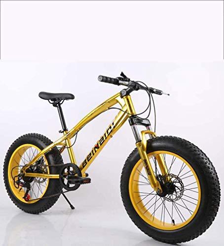N&I Bicycle Fat Tire - Bicicleta de montaña para hombre, doble disco, marco de acero al carbono, 7 velocidades, C de 24 pulgadas, diámetro de 66 cm