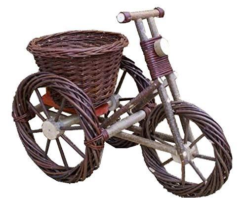 Korb Fahrrad Pflanzkorb Blumenständer Weide Gartenkorb Deko Korbware verschiedene Varianten zur Auswahl (ORT005 - groß)