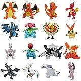 liuyb 16 Unids / Set Figuras De Dibujos Animados De Pokemons Charizard Aggron Mewtwo Dragonite Ivysaur Venusaur Charmeleon Pikachu Figura Juguetes 6-8Cm