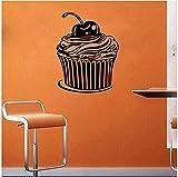 TJVXN Calcomanía de Pared de Cupcake, Postre, pastelería, café, pastelería horneada, decoración...