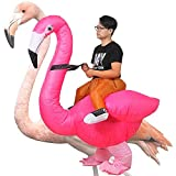 Inflatable Flamingo Costume Halloween Christmas Costumes Fancy Dress Cosplay Party Clothes Blow-up Costume for Parade Party Adult (Flamingo with 1 Fan)