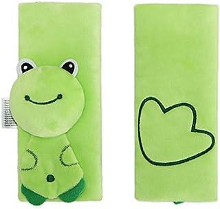 Newin Star Kindergürtel, Schutzgürtel für Kindersitze und Kinderwagen zum Schutz der Kinder Shoulder (1 Set) 16 * 16cm Green Frog