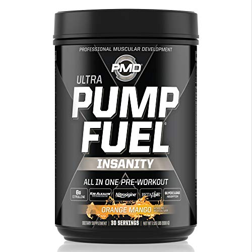 PMD Sports Ultra Pump Fuel Insanity - Pre Workout Drink Mix for...
