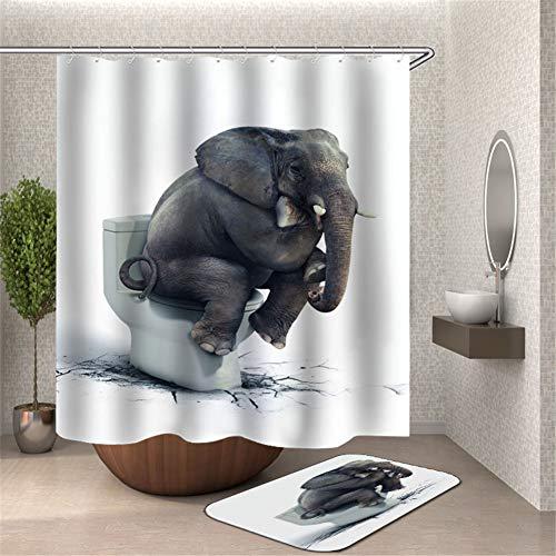 ZZZdz De olifant zit op het water. Waterdicht. Makkelijk schoon te maken. 180 x 180 cm.